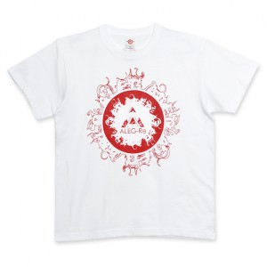 T-shirt(white×red)/ALEG-Re typeA