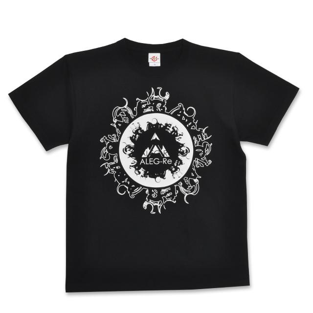 T-shirt(black×white)/ALEG-Re typeB